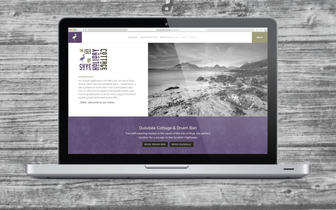 Skye Holiday Cottages Brand and Website